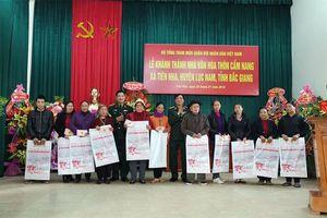 Bộ tổng Tham mưu khánh thành Nhà văn hóa thôn Cẩm Nang (Bắc Giang)