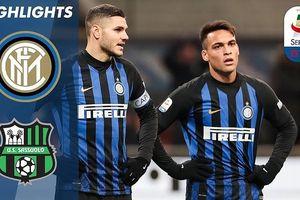 Inter Milan - Sassuolo 0-0: Liên tục bắn phá nhưng HLV Spalletti vẫn bị cầm hòa