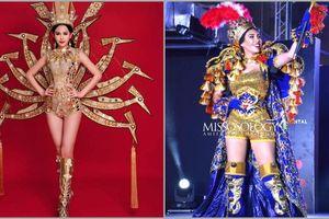 Lê Âu Ngân Anh trắng tay với trang phục dân tộc 'Chim Lạc' tại Miss Intercontinental 2018