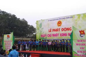 Thừa Thiên Huế: Nhiều hoạt động hưởng ứng lễ phát động ' Ngày Chủ nhật xanh'