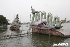 Đôi rồng thời Lý nặng 60 tấn ở Hồ Tây lần đầu được tu sửa đón Tết Nguyên đán