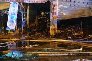 Chợ đầu mối lớn nhất Thanh Hóa cháy lớn, 10 ki ốt bị thiêu rụi trong đêm