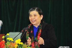 Phó Chủ tịch Quốc hội Tòng Thị Phóng: 'Anh Sơn phải trở thành huyện khá miền Tây Nghệ An'