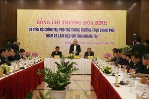 Phó Thủ tướng Thường trực Chính phủ Trương Hòa Bình làm việc tại Quảng Trị