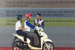 Honda Sơn Minh tập huấn Luật giao thông cho hàng trăm học sinh