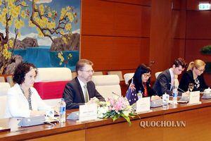 Chủ tịch Quốc hội Nguyễn Thị Kim Ngân chủ trì Lễ đón và hội đàm với Chủ tịch Thượng viện Australia