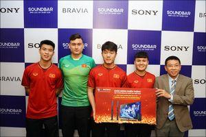 Sony tặng dàn âm thanh và TV cho Đội tuyển Việt Nam
