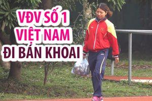 VĐV số 1 Việt Nam bán cả tấn khoai lang giúp mẹ kiếm tiền tiêu tết