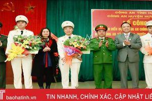 Điều động công an chính quy về công tác tại xã Sơn Bình
