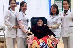 Cấp cứu cụ bà 103 tuổi bị gãy xương đùi