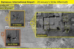 Israel tung ảnh vệ tinh chứng minh Syria thiệt hại nặng nề sau trận không kích