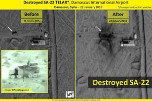 Lộ ảnh vệ tinh hiện trường Pantsir-S1 bị tên lửa Israel phá nát
