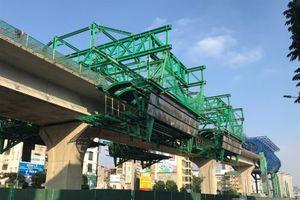 Khí thế trên công trình cầu cạn đoạn Mai Dịch - Nam Thăng Long
