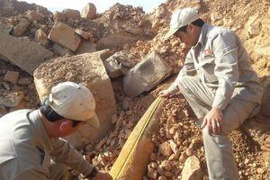 Thi công mở rộng cửa khẩu, phát hiện bom nặng hơn 100 kg
