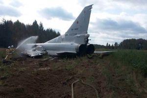 Máy bay ném bom chiến lược Tu-22M3 của không quân Nga gặp nạn