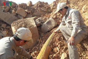 Phát hiện bom 'khủng' gần khu vực cửa khẩu Lao Bảo