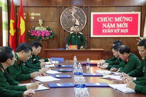 Thượng tướng Lê Chiêm thăm, chúc tết cán bộ, chiến sỹ BĐBP Kon Tum