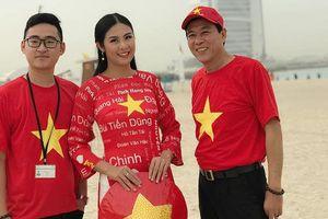 Hoa hậu Ngọc Hân ở Dubai: Thời tiết rất đẹp, đặt niềm tin vào tuyển Việt Nam