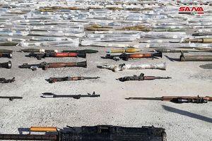 Quân đội Syria tiếp tục 'tóm sống' lô tên lửa lớn ở ngoại ô Damascus