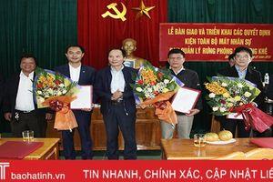 Bổ nhiệm Trưởng, Phó BQL Rừng phòng hộ Hương Khê
