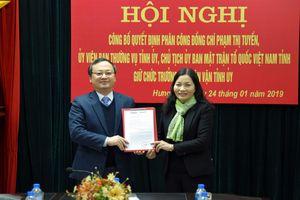 Hưng Yên thực hiện thí điểm Trưởng Ban dân vận đồng thời là Chủ tịch Ủy ban MTTQ