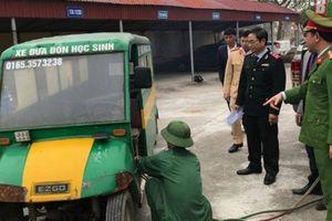 Tiêu hủy xe tự chế đưa đón học sinh ở Thái Bình