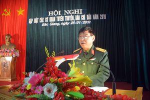 Bộ CHQS tỉnh Bắc Giang tổ chức gặp mặt các cơ quan báo chí đầu năm 2019