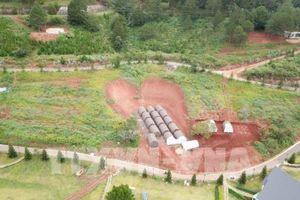 Chủ đầu tư tự tháo dỡ công trình trái phép tại hồ Tuyền Lâm, Đà Lạt