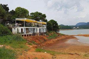 Buộc tháo dỡ các công trình xây dựng trái phép tại hồ Tuyền Lâm