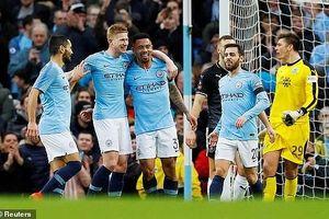 Thắng 'hủy diệt' Burnley, Man. City giành vé vào vòng 5 FA Cup