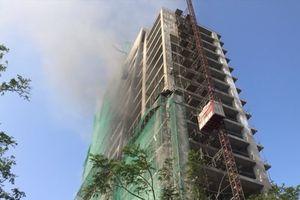 Đà Nẵng: Cháy tại công trình đang xây dựng