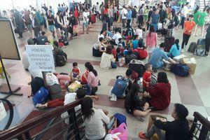Sự cố tại khu gian Sông Lòng Sông - Sông Mao, nhiều chuyến tàu lửa chậm giờ