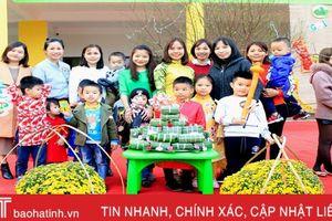 Trường Mầm non quốc tế Trung Kiên: 'Gói bánh chưng cùng bé cưng...'