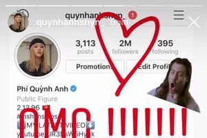 Instagram của Quỳnh Anh Shyn vừa chạm mốc 2 triệu follower, chỉ đứng sau Sơn Tùng và Chi Pu tại Việt Nam