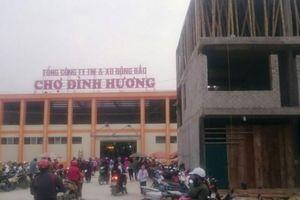 Thành phố Thanh Hóa: Vận hành tạm thời chợ Đình Hương