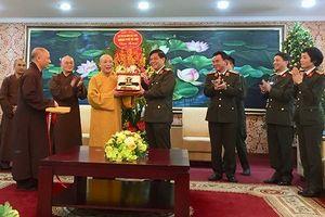 Thành hội Phật giáo Hà Nội chúc Tết Công an Thành phố