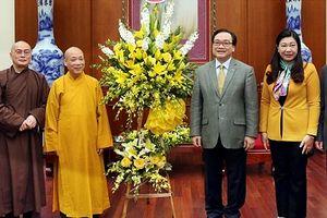Giáo hội Phật giáo Việt Nam TP Hà Nội chúc Tết Lãnh đạo Thành phố
