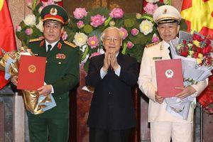 Thăng hàm đại tướng cho ông Tô Lâm và ông Lương Cường