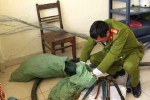 Thái Bình: Bắt giữ 2 đối tượng cắt trộm dây cáp để lấy lõi đồng đem bán