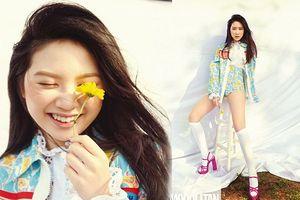 Con gái 15 tuổi Chân Tử Đan khoe chân dài miên man, đẹp như siêu mẫu