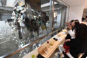 Vừa ăn vừa nhìn rác tại nhà hàng đặt giữa bãi xử lý phế liệu ở Nhật