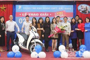 VNPT trao thưởng lớn cho khách hàng trúng giải tại Bắc Giang
