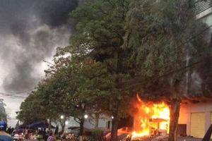 Chợ lớn nhất Thái Nguyên cháy ngày 27 Tết