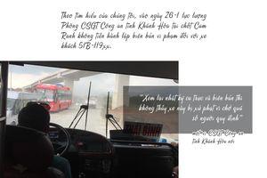Những phút 'đối đầu' giữa tài xế xe khách chạy Tết với CSGT
