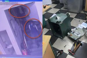 Hai tên trộm bịt mặt phá két sắt sáng mùng 1 Tết ở Linh Đàm