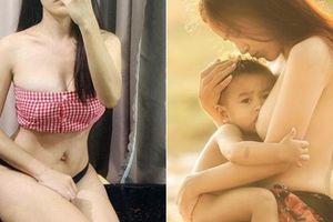 'Bà mẹ ngực trần cho con bú' gợi cảm bất ngờ sau 4 năm nổi tiếng
