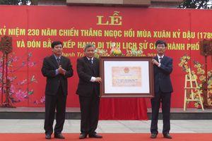 Khu di tích kỷ niệm chiến thắng Ngọc Hồi đón nhận Bằng xếp hạng di tích lịch sử cấp TP