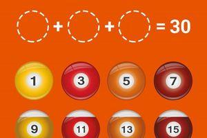 Đố bạn chọn ra 3 quả bóng để tổng của chúng là 30