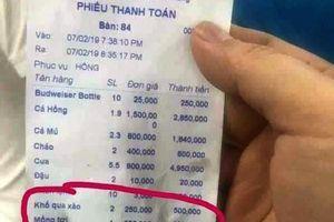 Nha Trang: Thêm quán ăn bị tố 'chặt chém' 250.000 một đĩa mồng tơi