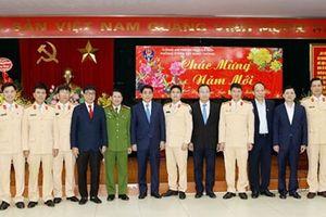 Công an TP Hà Nội ra quân đảm bảo an toàn giao thông sau Tết